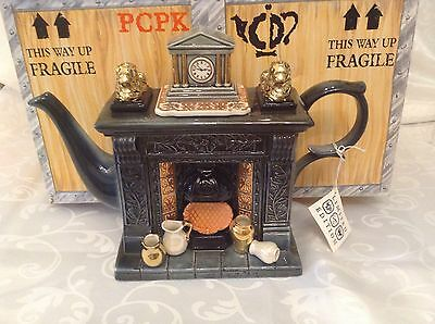 Cardew Collectable Large Novelty Teapot Titan Classical Fireplace Mint Condition