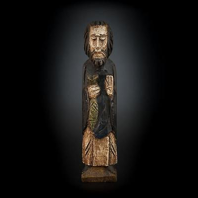 """Stunning 14"""" Large Antique Wooden Hand Carved Statue Jesus Christ Our Lord"""