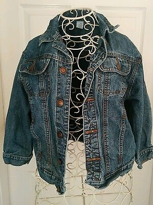 girls boys blue unisex denim jacket age 8 - 128cm adams