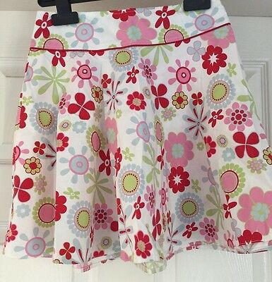Young Dimension Girls Flowery white pink red green blue 97% cotton Skirt Ag 9-10