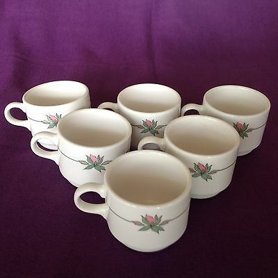 Syracuse China Syralite set of six cups