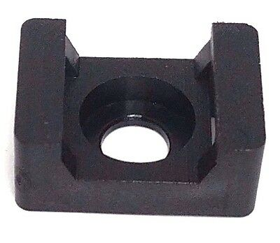 New Black 16mm Width Cable Tie Base Saddle Type Mount Wire Holder 100Pcs