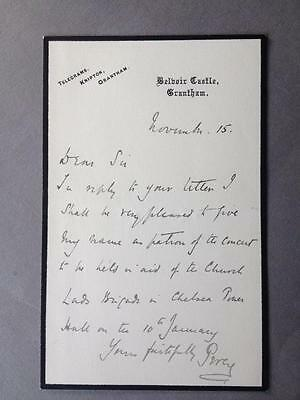 Lord Algernon Percy, Aide de Camp to Edward VII & George V, ALS, SIGNED letter