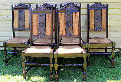 Set Of Six Vintage French Dining Chairs Country Kitchen