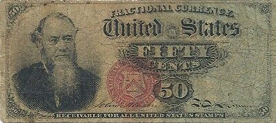 1869-75 Fractional 50 Cents Fr. 1376 - Edwin Stanton Portrait - Fairly Priced