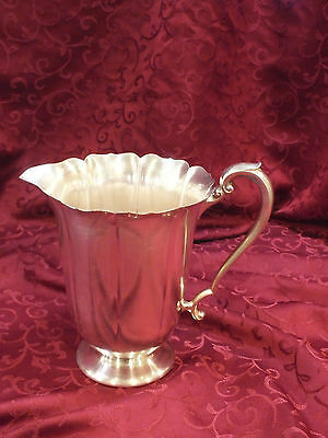 Scarce Vintage FORBES SILVER CO Silverplate Water Pitcher / Jug Pattern # 3517