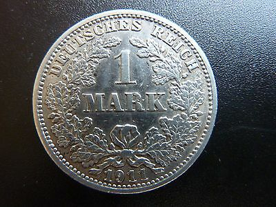 1911J Germany 1 Mark Silver Coin