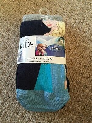 Kids Frozen Thick 2 X Tights M&S 2-3yrs Girls Height 98cm