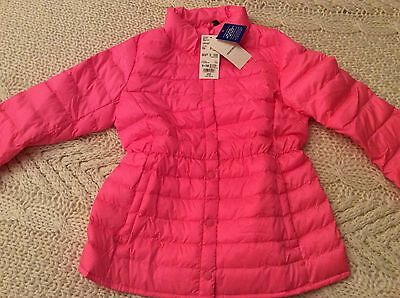Girls light warm padded pink jacket by Uniqlo age 9-10 BNWT RRP £39.90
