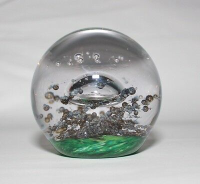 Beautiful Selkirk Glass Paperweight With Engraved Mark On Base