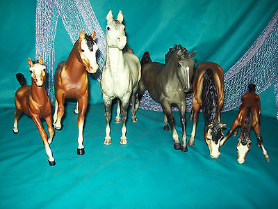 Breyer Traditional Mixed Lot of 6 PAS, FADE TO GREY, RUNNING & GRAZING MARE FOAL