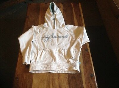"Girls Animal White Hoodie Size S 30"" Chest"