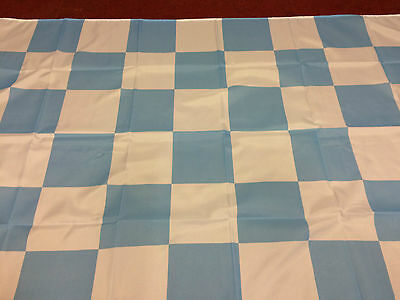 """Chequered Flag Sky Blue And White Large Flag 5ft X 3ft 60"""" x 36"""""""