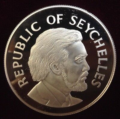 1977 Republic Of Seychelles *proof Silver* 25 Rupees Coin!