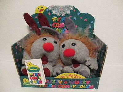 Big Comfy Couch Dust Bunnies Fuzzy and Wuzzy 1997 in Box w/gift card