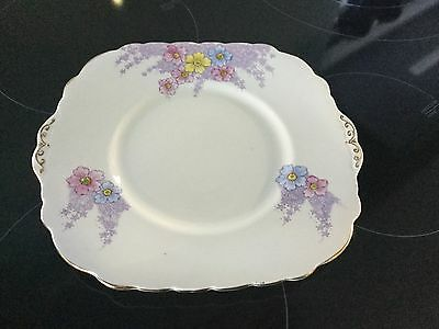 Colclough Hand Painted Cake Plate Bone China England Perfect Cond.