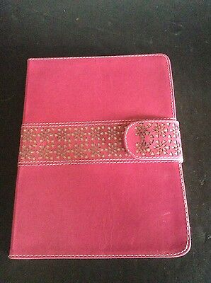 Monsoon A5 Pink Leather Notebook