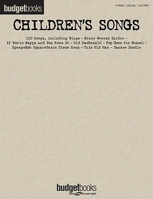 Budget Books Childrens Songs Pvg