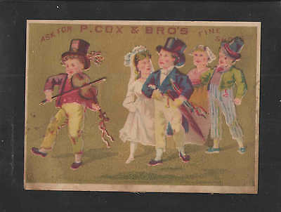 1880s P COX & BROS FINE SHOES VICTORIAN TRADE CARD