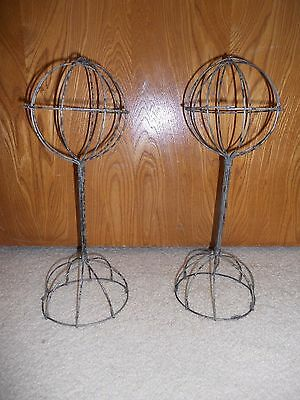 """Store Display Fixtures  METAL HAT OR WIG STAND 13"""" tall"""
