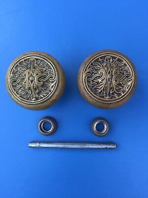 Antique Brass Door Knob Set