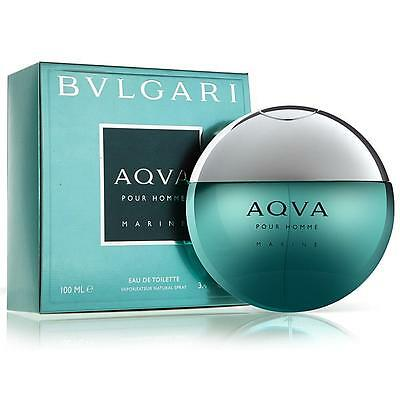 Aqva Pour Homme Marine 100ml EDT Spray for Men by Bvlgari