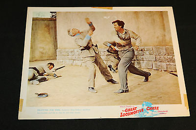 1956 The Great Locomotive Chase Lobby Card Walt Disney Fess Parker (C-5)