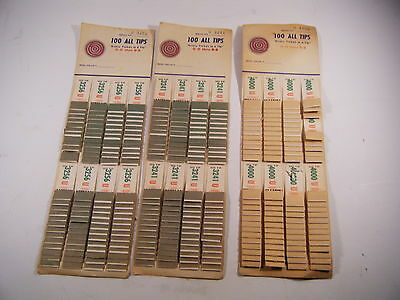 Vintage Lot Of 3 All Tip Tickets 100 Tab Sheets 1950's