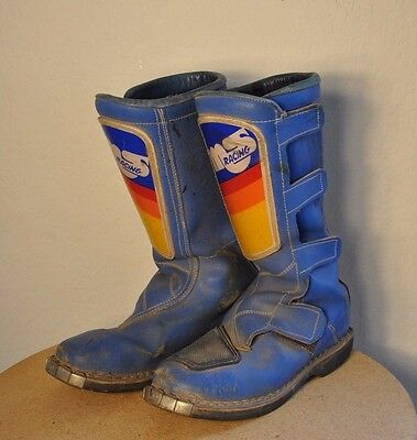 Vintage Malcolm Smith Alpinestars Motocross MX Boots Motorcycle Italy - Sz 10