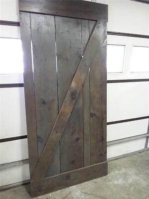 Amish Built Handmade Unfinished Reclaimed Barn Wood Custom Interior Barn Door