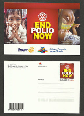 Portugal Rotary End Polio Now Vaccination Medicine Postal stationery 2015