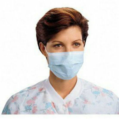 50pcs Blue Disposable Respirator Procedure Dust Filter Mouth Cover Face Mask