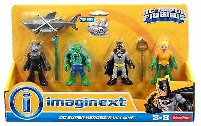 Heroes And Villains  4 Pack With Shark - Imaginext DC Super Friends