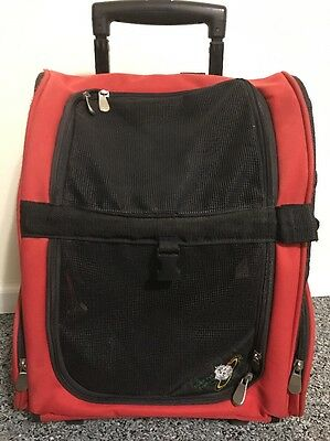 Global Pet Products Rolling Travel Pet Carrier Red