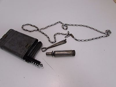 WWII German K-98 Mauser cleaning kit 1938 dated. Kit has spoon with it.