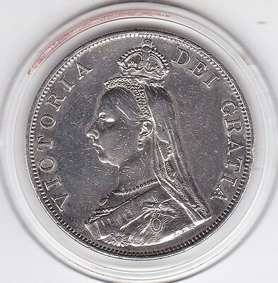 1888  Queen  Victoria  Large  Double  Florin  (4/-)  Silver (92.5%)  Coin