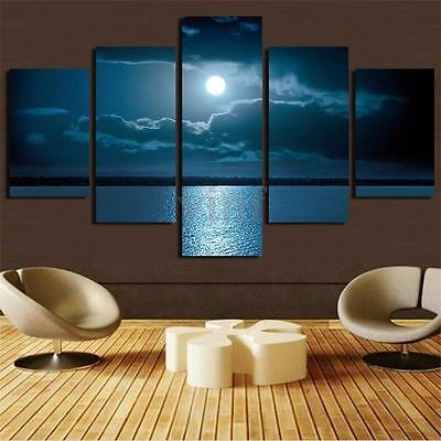Large Moon Night Canvas Print Wall Art Painting Picture Home Decor Unframed