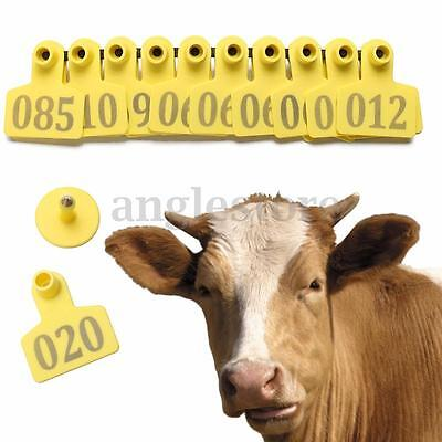 ID Number From 001 To 100 Sets Cattle Goat Sheep Ear Tag Livestock Animal Lables