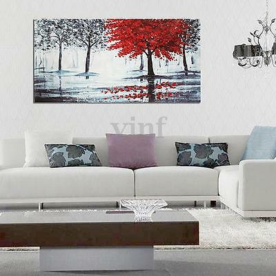 Red Black Tree Forest Canvas Print Wall Art Painting Picture Home Decor Unframed