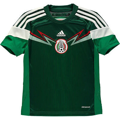 Mexico adidas Youth 2014 Replica Home Soccer Jersey - Green