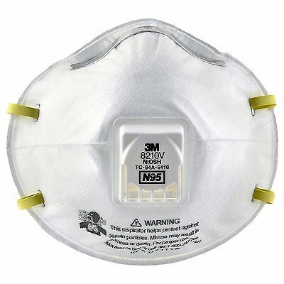 3M Particulate Respirator 8210V, N95 Respiratory Protection 10 count
