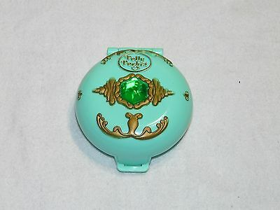Vtg 1992 Princess Polly Pocket Woodland Forest World Realm jeweled green compact