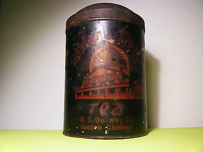 Vintage 1920's W.s. Quinby Company Golden Dome Tea Tin