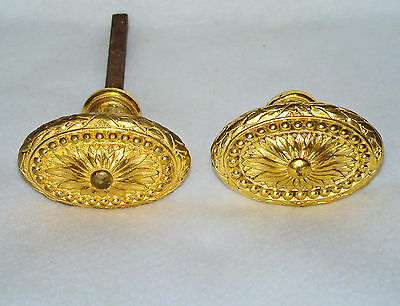 A Pair of stunning antique French gilt bronze Door Knobs from a Newport mansion