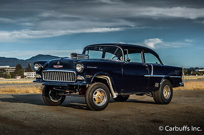 1955 Chevrolet Bel Air/150/210  1960's style Gasser 336 ci sbc 4 Speed 210 Post Hot Rod Vintage Classic 55 Chevy