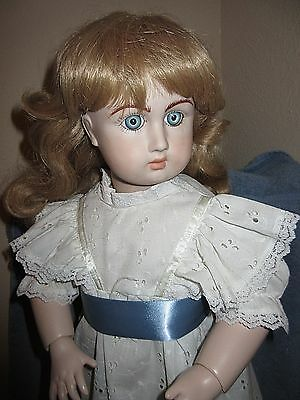 Antique Reproduction FRENCH BISQUE JULLIEN DOLL Composition Seeley BODY 28""