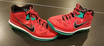 Nike Air Lebron 9 Low Liverpool Action Red Black White Size 11.5