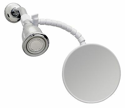 mDesign Suction Fog-Free Shower Shaving Mirror for Bathroom with Arm {1974MDBA}