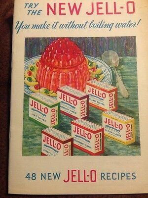 Vintage Try The New Jell-O  48 New Jell-o Recipes
