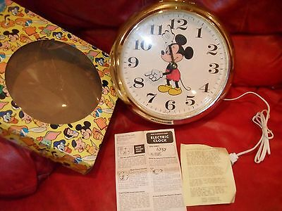 Mickey Mouse Wall Hanging Pocket Watch Clock WELBY Elgin Works